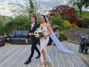 Father walking Daughter down the isle